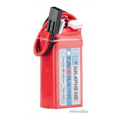 1 stick batterie Graphene 3S 11.1V 1300mAh 70C Lipo