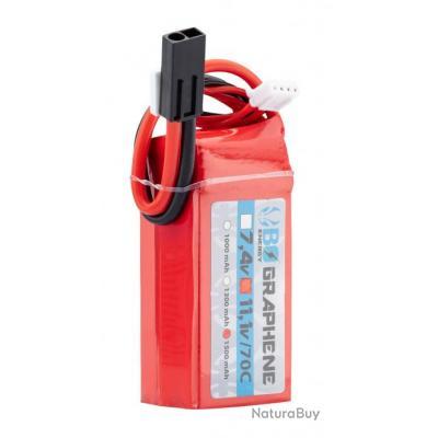1 stick batterie Graphene 3S 11.1V 1500mAh 80C Lipo