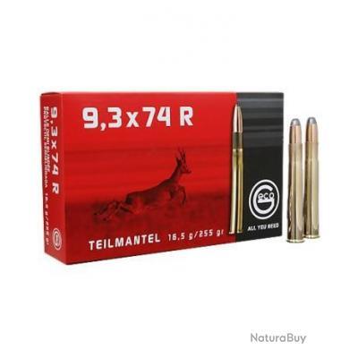 GECO TEILMANTEL 9.3X74 R 255 GRAINS BOITE DE 20