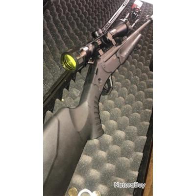 Carabine 22lr, lunette 4x32 silencieux très efficace, une boîte de balle et un bipied offert