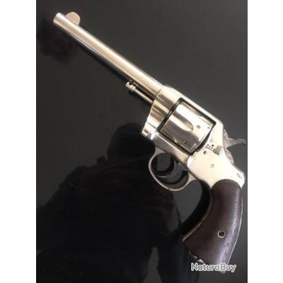 Rare révolver 38 long colt us armi 1901 nickelé