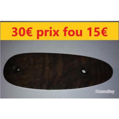 plaque de couche bois NOYER  épaisseur 10 mm Entraxe 79 Largeur 43  Longueur 128         REF 172