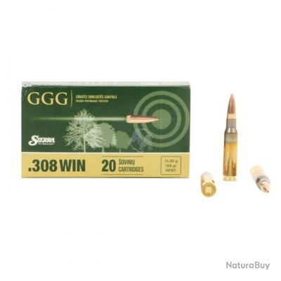 CARTOUCHES GGG 308 WIN 168 GRAINS HPBT