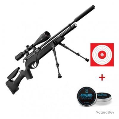 Pack carabine à plomb Gamo Hpa PCP avec lunette 6-24x50 et accessoires - Pack complet