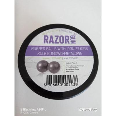 RazorGun - Balles en caoutchouc avec garnitures en fer RAM .50 pour Umarex HDR50 / HDP50