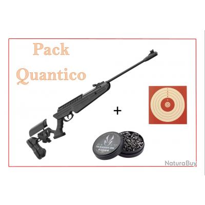 Pack Carabine 19,9J BLACK OPS QUANTICO cal. 4,5 mm + 100 Cibles + 500 Plombs