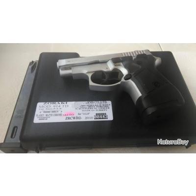 Lot ZORAKI 914 TD FULL AUTO 9mm PAK MAT CHROME + 1 Chargeur 925 ZORAKI (25 coups)