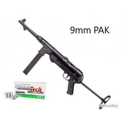 MP40 à Blanc Full Métal - 9mm PAK - Fabrication Allemande + 50 Balles Offertes