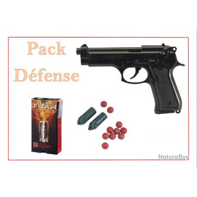 """Pistolet KIMAR 92 Auto Bronzé cal.9mm PA """"Pack Défense"""""""