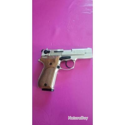 pistolet d'alarme Walther Umarex p 88 compact nickelé crosse bois 9 mm Pak