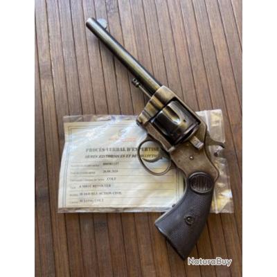 REVOLVER COLT MODÈLE 1895 CALIBRE 38 LC