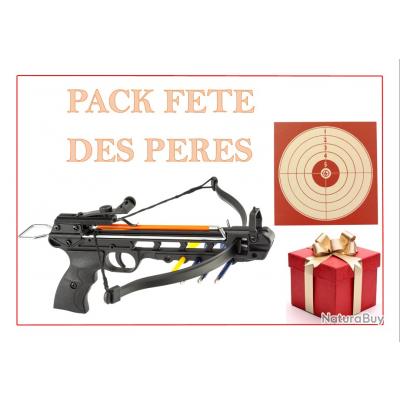 PACK PISTOLET ARBALÈTE SHOOT AGAIN CF115 + 100 CIBLES + 5 TRAITS 14X14 OFFRE SPECIALE FETE DES PERES