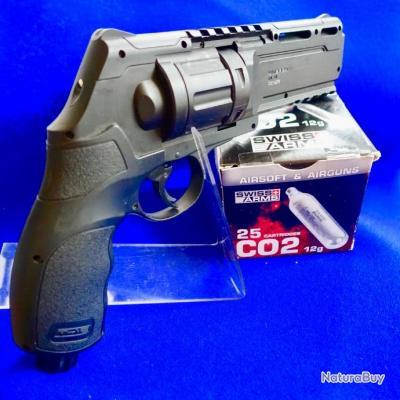 Pack UMAREX T4E HDR 50 + 1 barillet 6 balles caoutchouc +25 CO2...catégorie D