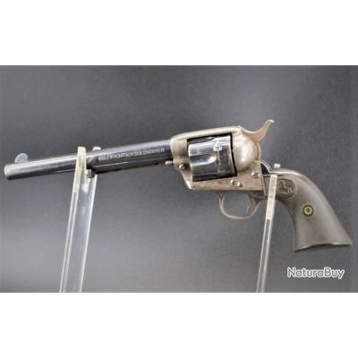 REVOLVER COLT SAA SINGLE ACTION ARMY MODEL 1873 Calibre 44 WINCHESTER de 1899 - USA XIXè Très bon  U
