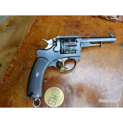 très rare revolver modèle 1887 civil de fabrication stephanoise en parfait etat