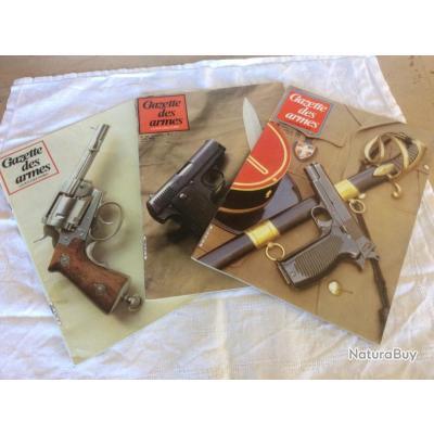 lot 3 revues Gazette des armes - 117-118-119- revolvers de marine / mousqueton 1829...(05 à 07/1983)