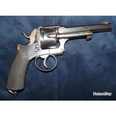 Beau revolver Fagnus Maquaire fabrication Belge calibre 450 fin XIXe
