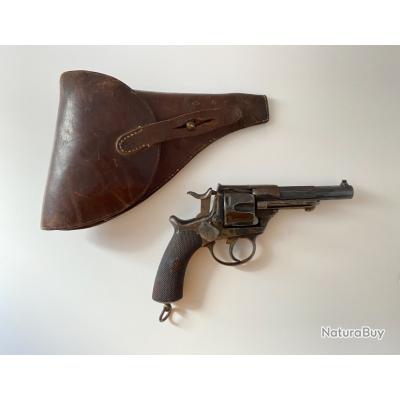 Revolvers modèle 1874 version civile Chalmot Delvignes avec Holster cuir Brun