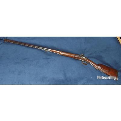 Beau fusil de chasse silex transformé a percussion pour Dames calibre 20 vers 1830 avec signature