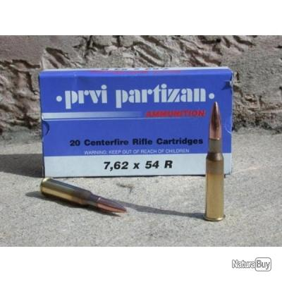 100 Partizan 7.62X54R 170Grs FMJ BT PROMO PPU