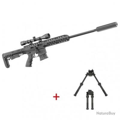 Pack carabine à répétition Pallas silence Ba-15 - Cal. 22LR - Noir / Pack complet