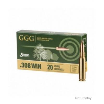 CARTOUCHES GGG 308 WIN SIERRA 175 GRAINS HPBT