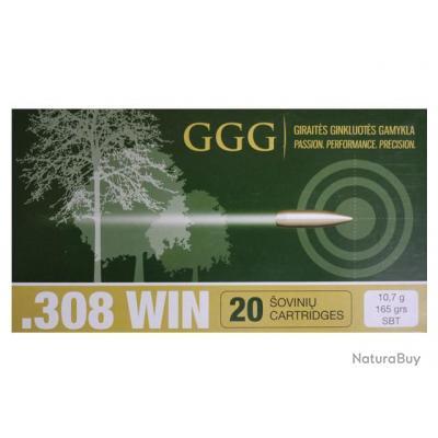 CARTOUCHES GGG 308 WIN SIERRA 165 GRAINS SBT