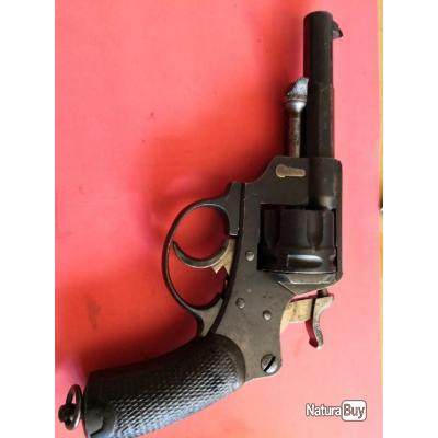 beau revolver 1874 chamelot Delvigne civil de St Étienne sans aucun jeu apte au tir lire l'annonce