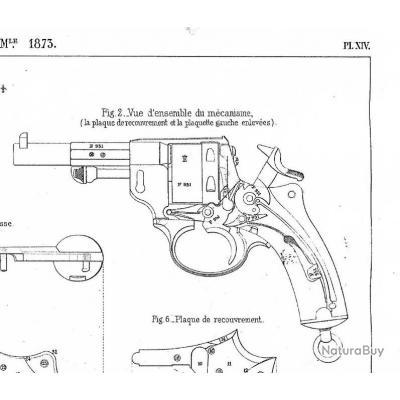 Revolver 1873 - Clé de grand ressort.