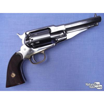 Révolver Remington 1858 New Model Army Sheriff cal .44 version inox, crosse quadrillée, catégorie D