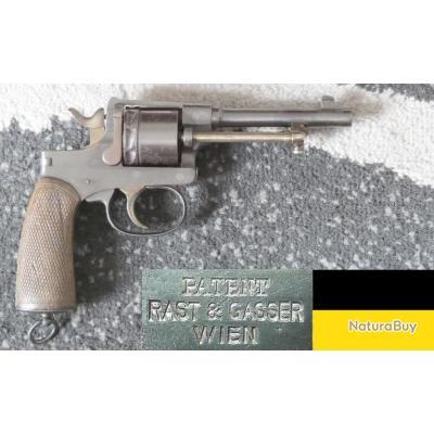 Revolver Rast & Gasser M1898 // calibre d'origine 8mm Gasser (8.2x27.5)