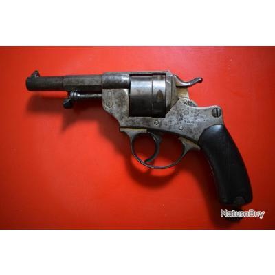 revolver réglementaire mle 1873 , certicat du hussard et son étui dit le jambon