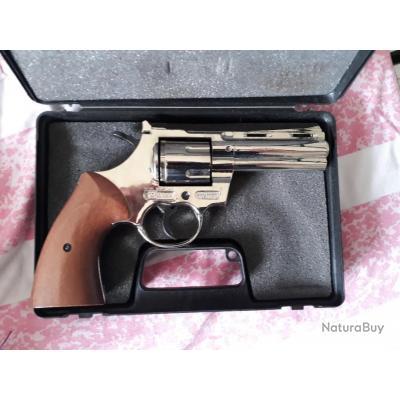 Vend Revolver Bruni Magnum nickelé - Type Python + lance fusé