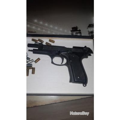 Pistolet d'alarme bruni 9mm
