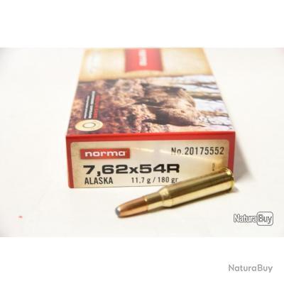 Lot de 2 boites de munitions Norma 7.62x54 R Alaska 11.7g