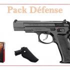 Pistolet 9 MM à blanc CHIAPPA CZ75 W bronzé + 50 munitions + holster