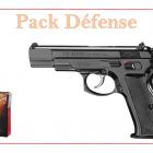 Pistolet 9 MM à blanc CHIAPPA CZ75 W bronzé + 50 munitions