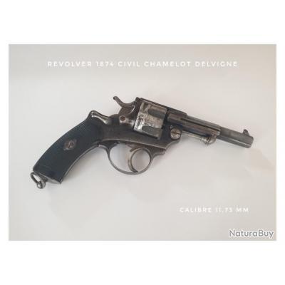 Beau Revolver 1874 Civil avec marquage E.Lefaucheux Paris rare.