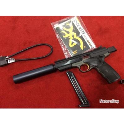 Browning buck mark black label cal 22 lr + silencieux