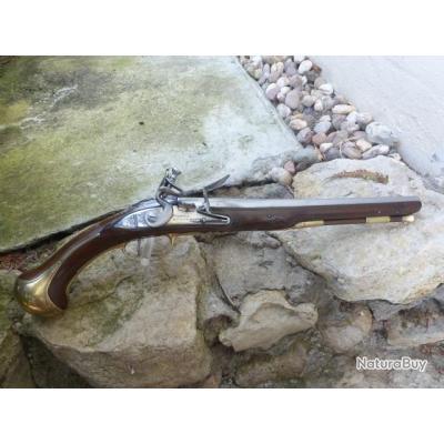 Très beau pistolet à silex XVII eme