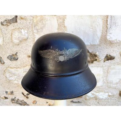 Casque Allemand M38 RL2 39/21 ( Quist )- Défense passive - German helmet. Stahlhelm.