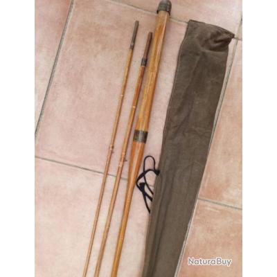 Canne en bambou refendu 3 brins.
