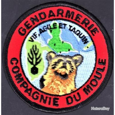 Gendarmerie. Compagnie du Moule. Titre d'épaule, tissu brodé, velcro.