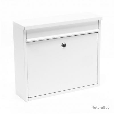 Boite aux lettres design boite postale murale design blanc 16_0000060