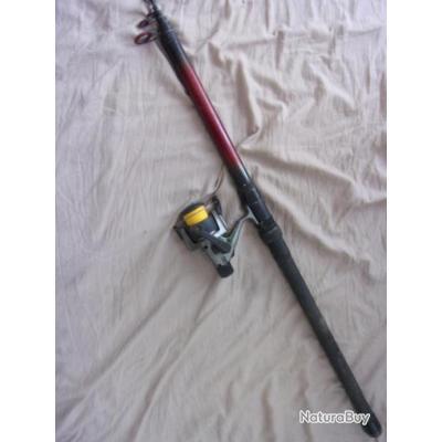 canne à pêche et moulinet 4 m