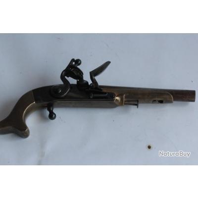 Pistolet à silex en laiton (NB11)