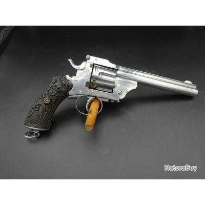 Superbe revolver Smith et Wesson double action calibre 44 russian fabrication belge pour l'export