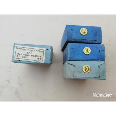 Lot de 4 boîtes de 500 cartons cal 14 mm