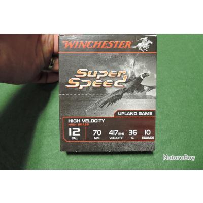 Cartouches calibre 12/70 WINCHESTER SUPER SPEED Plomb de 1 en 36g