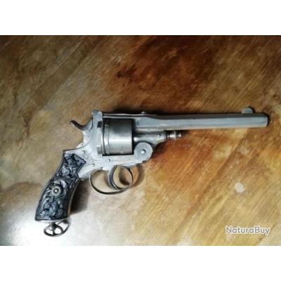 peu courant revolver à brisure J. WARNANT calibre 380 percussion centrale poudre noire